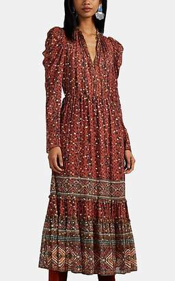 Ulla Johnson Women's Alessandra Tapestry-Print Georgette Long Dress - Md. Red