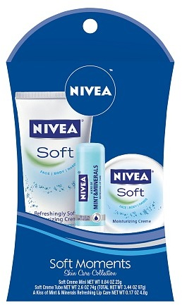 Nivea Lip Care Soft Moments Skin Care Collection Gift Set
