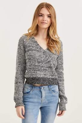 Ardene Knit Wrap Sweater