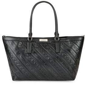 Love Moschino Debossed Tote