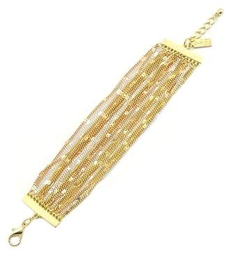 68577b7540 Savvy Cie 18K Gold Tri-Color Multi-Chain Bracelet