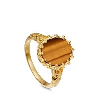 Astley Clarke Tigers Eye Large Floris Ring