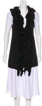 Alice + Olivia Fur-Trimmed Knit Vest