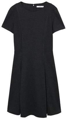 MANGO Wide pleated dress