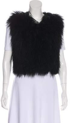 Gucci Mongolian Lamb Cropped Vest