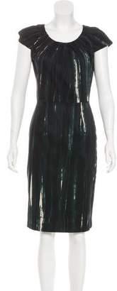 Samantha Sung Short Sleeve Midi Dress