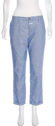 Closed High-Rise Cropped Pants