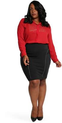 Justice Poetic Tiffy Ponte Knit Pencil Skirt
