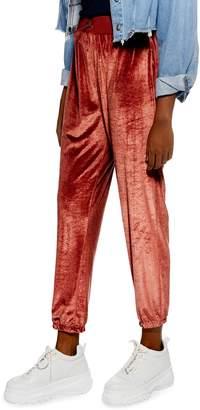 Topshop Velour Jogger Pants