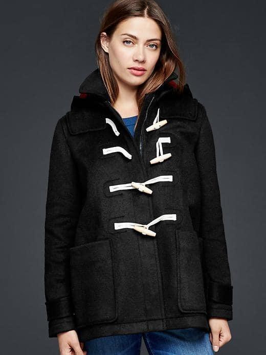 GapContrast wool toggle coat