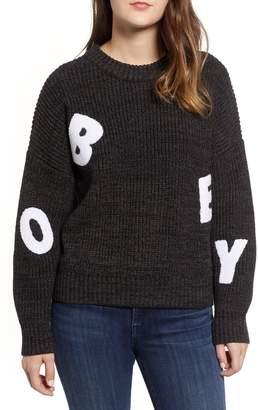 Obey Jumbled Knit Sweater