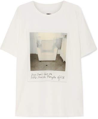 MM6 MAISON MARGIELA Printed Cotton-jersey T-shirt - White