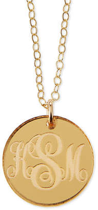 Moon and Lola Providence Mirrored Acrylic Reverse Monogram Pendant Necklace