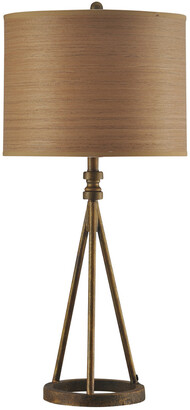Stylecraft Style Craft 35In Seeded Glass Table Lamp
