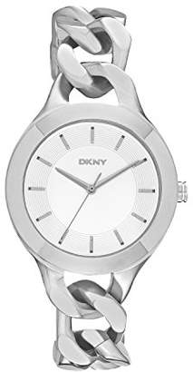 DKNY DNKY5) Women's Quartz Watch with Silver Dial Analogue Display and Silver Stainless Steel Bracelet NY2216
