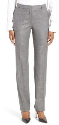 Women's Boss Tamea Wool Blend Straight Leg Trousers $325 thestylecure.com