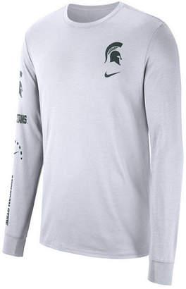 Nike Men's Michigan State Spartans Long Sleeve Basketball T-Shirt