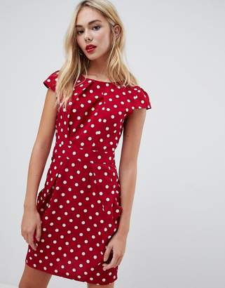 096e524cd92 Qed London QED London polka dot print tulip dress with pockets