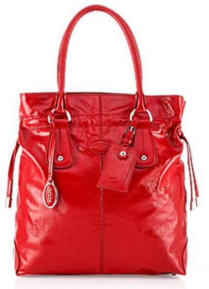 Tod's Restyled D-Bag Tote Media, Red