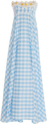 Leal Daccarett Cantare Gingham Cotton Dress Size: 0