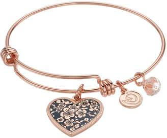 """Love This Life love this life """"Mother Daughter Friends Forever"""" Heart Charm Bangle Bracelet"""