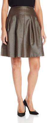 Nine West Women's Metallic Jacquard Skirt