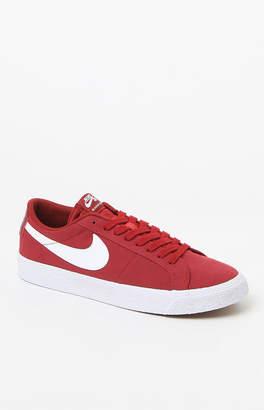 Nike SB Air Zoom Blazer Low Canvas Maroon Shoes