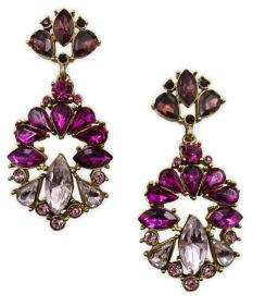Badgley Mischka Belle by Pink Ombre Stone Cluster Drop Earrings