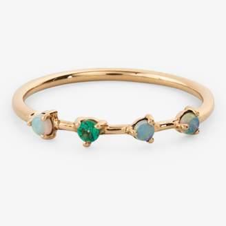 DAY Birger et Mikkelsen Wwake Opal & Emerald Four Step Ring Gold