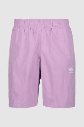 Mens adidas Originals Purple 3 Stripe Swim Short