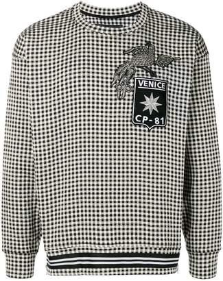 Christian Pellizzari gingham sweater