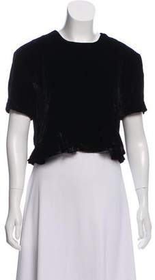 Piamita Velvet Short Sleeve Top