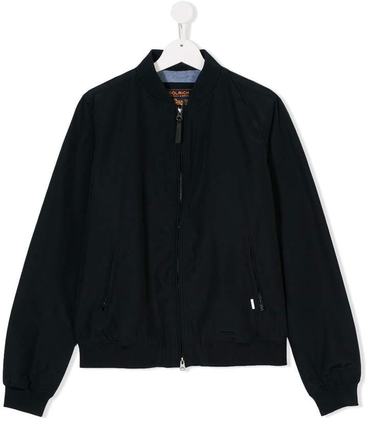 Woolrich Kids Teen zipped bomber jacket