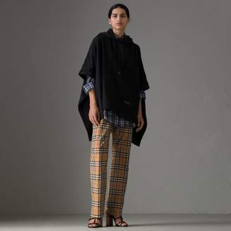 Burberry Cotton Jersey Hooded Cape