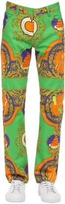 Casablanca Les Oranges Printed Cotton Denim Jeans