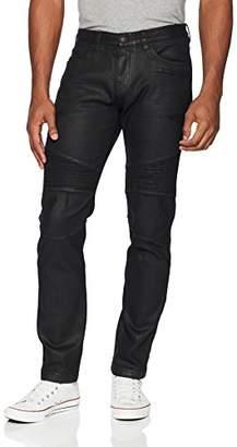 Armani Exchange A|X Men's Black Motorcycle Jeans