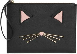 Kate Spade Medium Cats Meow - Bella Leather Pouch