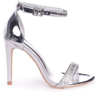 1d8dc703ee8 Linzi ANITA - Silver Stiletto Heel With Diamante Front Ankle Strap