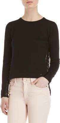 Yumi Black Lace Back Sweater