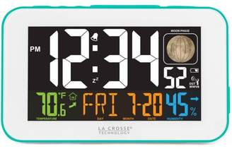 La Crosse Technology Generic 617-1485BL LED Color Alarm Clock with USB Charging Port, Blue