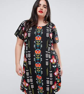 Junarose Printed Shift Dress