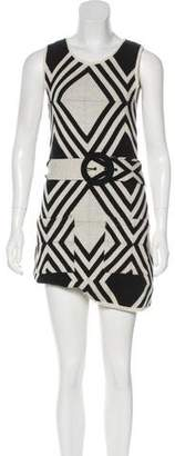 Alice + Olivia Belted Chevron Dress