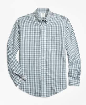 Brooks Brothers Non-Iron Milano Fit Mini-Gingham Sport Shirt