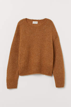 H&M Knit Wool-blend Sweater - Yellow