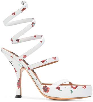 Y/Project Y / Project floral print spiral sandals