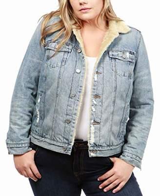 Lucky Brand Women's Sherpa Trucker Plus-Size Jacket