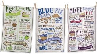Design Imports Cool Tone Pie Recipes Cotton Dishtowels (Set of 3)