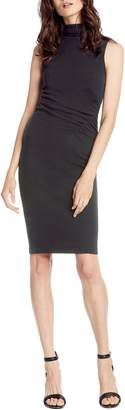 Michael Stars Pebble Knit Ruched Mock Neck Dress