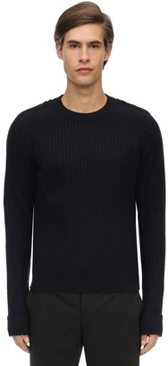 Neil Barrett Shetland Wool Knit Sweater