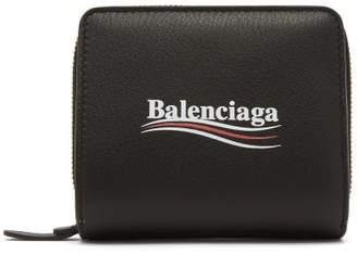 Balenciaga Everyday Bi Fold Logo Wallet - Womens - Black